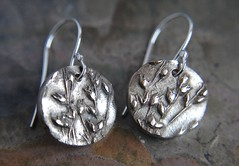White Bronze Kansas Prairie grass earrings (KitandCaboodle) Tags: handmade jewelry kansas artisan prairiegrass metalclay whitebronze gayledowell