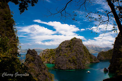 obligatory shot of the view from Kayangan Lake entrance (diamonddust13) Tags: travel summer lake island philippines bluesky limestone coron palawan scenicview kayanganlake turquiosewater cleanestlakeinasia