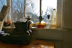 (natthompson) Tags: winter lamp vintage junk boots farm maine lamps clutter oillamps beanboots
