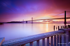 Sunrise Colors Over Bay Bridge San Francisco (davidyuweb) Tags: sanfrancisco california bridge usa colors sunrise bay san francisco over