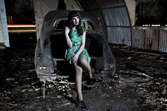 Hannah Louise Gray ([Nocturne]) Tags: longexposure nightphotography light lightpainting green abandoned 1955 rust dress f56 sunbeam nocturne cartrails noctography expisure wwwnoctographycouk