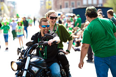 St. Patrick's Ride (animefx) Tags: camera people holiday color colour green digital canon happy eos beads illinois downtown ride candid parade motorcycle springfield dslr ff stpatricksday 2012 stpatricksdayparade 135mmf2l 5dmarkii 5d2 5dmkii 5dmk2 5dmark2 stpatricksride