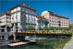 Sunny Ljubljana (Stefan Cioata) Tags: bridge flowers summer vacation holiday tourism water beautiful river photography photo europe european image sale capital great stock sunny visit tourist best explore slovenia ljubljana getty destination top10 available decorated outstanding ljubljanica arhitecture touristica flickrandroidapp:filter=none
