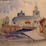 "<b>Den (Bordi)</b><br/> Frans Wildenhain ""Den (Bordi)"" Watercolor & Pencil, n.d. LFAC #488<a href=""http://farm8.static.flickr.com/7057/7045932393_f4eb99dca1_o.jpg"" title=""High res"">∝</a>"