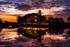 Perfect Mirror (Terence S. Jones) Tags: leica sunset summicron malaysia langkawi lightroom4 sonynex5n