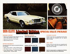 1976 Ford Elite Limited Edition (aldenjewell) Tags: ford elite limited edition 1976 dealersheet
