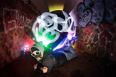 (Clément Champy) Tags: blue portrait lightpainting green beach yellow canon stars sand tag spin tunnel fisheye flare 8mm étoiles arche étincelles samyang