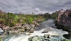 Down stream. (johnandco) Tags: waterfalls rivers flicker linton riverwharfe thedales nikond90