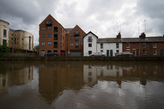 Across the Kennet to the Prudential and Blakes Cottages