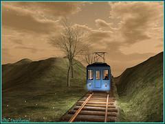 Comme un pressentiment ... (Tim Deschanel) Tags: life train landscape tim nacht mint rail dora deer sl hide second paysage exploration deschanel nostos