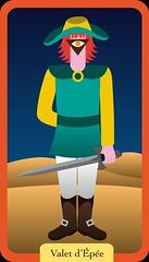 Valet d'Épée (aluniverse) Tags: bâtons coupes épées deniers tarotdemarseille arcanesmineurs arcanemineur 56cartes