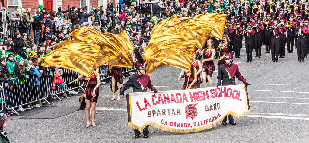 La Canada Marching Spartans At The St. Patrick's Day Parade In Dublin