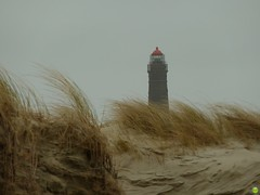 Lighthouse behind the dunes (petrOlly) Tags: sea beach germany island deutschland spring sand europa europe northsea ostfriesland nordsee borkum eastfrisia