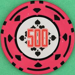 500 (Leo Reynolds) Tags: gambling canon eos iso100 casino number poker button marker chip squaredcircle 60mm 500 token f80 buck pokerchip 0025sec 40d hpexif 033ev xsquarex xleol30x sqset103 xxx2014xxx