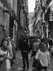 Street in Spacca Napoli (PietroEsse) Tags: blackandwhite streetphotography napoli naples biancoenero spaccanapoli canonpowershots3is