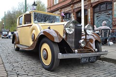 1934 Rolls-Royce 20/25 Saloon  BKE 362 (Paul D Cheetham) Tags: up set museum easter day village 1st derbyshire may engine rollsroyce 1940s april petrol 37 straight six saloon tramway forties 1934 19th litre 2014 2025 crich straightsix 362 bke bke362 3779cc