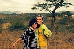 marvellous smiles. (Giada Babino) Tags: world africa park travel trees girls friends wild love nature beautiful smile hair landscape happy landscapes hug gate peace shine friendship kenya african happiness lovers traveller relationship national valley short sit hells savana