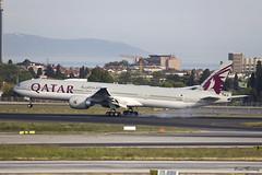 Qatar Airways 777-300(ER) A7-BED (birrlad) Tags: turkey airplane airport ataturk aircraft aviation airplanes istanbul landing international airline boeing arrival airways airlines ist 777 runway landed airliner doha qatar arriving b777 qatari 777300er b773 7773dzer a7bed qr245