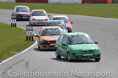 JSCC - R1 (4) Charlie Kennedy heads a train of Saxos (Collierhousehold_Motorsport) Tags: juniors barc saxo snetterton saloons jscc snetterton300 juniorsaloons