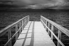 Wooden pier - B&W version (Helena Normark) Tags: norway pier norge trondheim srtrndelag a7 voigtlnder trondheimsfjorden ranheim nokton5015 cv5015 nokton50mmf15 hansbakkfjra sonyalpha7