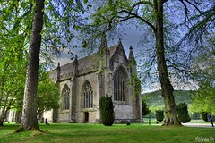 Dunkeld Abbey (mistinguette.mistinguette) Tags: trees green church abbey architecture religious scotland gothic norman tay perth celtic kinross reformation churchofscotland saintcolumba