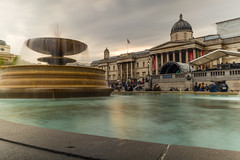 DSC_4643 (patrykkostrzewa) Tags: london fountain by night square photography photo nikon long exposure trafalgar nd beginner