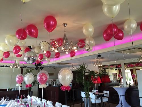 Heliumballonnen Ballonnenplafond Huwelijk Citta Romana Hellevoetsluis