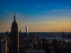 Top of the Rock (Stevebegin) Tags: city nyc newyorkcity sunset usa architecture cityscape topoftherock
