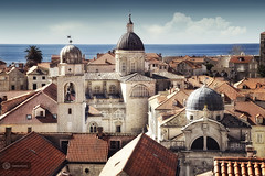 mirage (cherryspicks (off for a while)) Tags: city roof sea building church architecture daylight mediterranean bell croatia dubrovnik adriatic