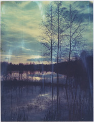 Sundown (Maija Karisma) Tags: nature polaroid instant expired pola expiredfilm peelapart polaroid180 iduv littlebitbetterscan