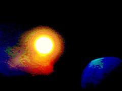 Sol y Tierra/Sun & Earth (?) (jerodamor@yahoo.com.mx) Tags: astronoma sol luna ocasos