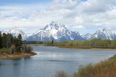 Oxbow Bend (cbmtax) Tags: travel trees mountains river nationalpark spring wyoming grandteton