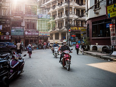 glint. (elbmarcs.) Tags: street travel people building lumix interesting asia olympus panasonic vietnam explore 20mm townscape sapa omd motorcyclist em5