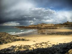fort Corbletts, Aldernsy (neilalderney123) Tags: beach landscape sand fort olympus alderney stormclouds omd corbletts 2016neilhoward