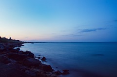 (Berdnik Dmitriy) Tags: blue light sunset sea summer wallpaper sky nature water landscape evening nikon soft long exposure shine superb land 24mm nikkor simply exciting 18105