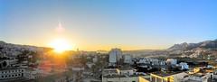 PANO_20150818_055952 (Yassine Abbadi) Tags: road bridge sea sky cloud mountain beach grass plane sunrise buildings spring hill mosque morocco maroc hdr tetuan tetouan martil bouanane