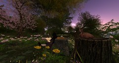 Reading in the Shire (Ima Peccable) Tags: secondlife shire hobbitssecondliferegiontheshiresecondlifeparceltheshireahomelysliceofmiddleearthsecondlifex179secondlifey204secondlifez23