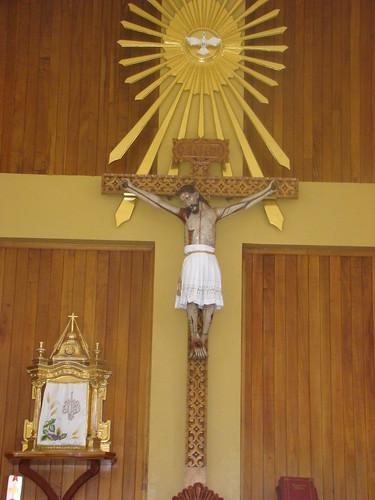 Santo Cristo y Sagrario, Altar Mayor, Templo Nuevo de Ecce Homo, Barrio de Sta. María Xixitla, San Pedro Cholula, Pue.