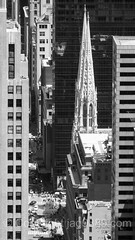 St. Patrick's Cathedral, New York City (jag9889) Tags: nyc newyorkcity blackandwhite bw usa ny newyork building church monochrome architecture skyscraper observation worship unitedstates cathedral outdoor manhattan unitedstatesofamerica stpatrickscathedral 5thavenue aerialview landmark midtown deck observatory departmentstore esb empirestatebuilding fifthavenue saksfifthavenue saks romancatholic openair flagship 2016 jag9889 20160610