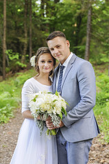 (irina_kra) Tags: life park wedding light portrait people white love beautiful outside outdoors happy woods pretty vermont young husband naturallight wife weddingdress weddingphotography weddingbouquet nikond300