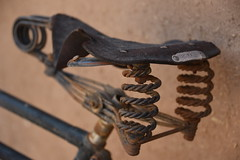 Brooks (=Mirjam=) Tags: old holiday bicycle travels rust iran rusty used worn traveling mei saddle brooks fiets yazd 2016 100bicycleproject nikond750