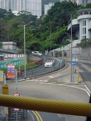Mid-Levels' Complex Road System (Canadian Pacific) Tags: bus hongkong ride hill riding  midlevels slope hongkongisland steep upperdeck abus   adoubledecker ap1140705