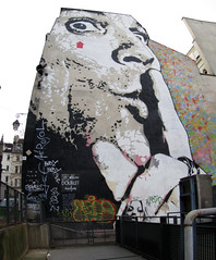 street art & graffiti Paris - Jef Aerosol (_Kriebel_) Tags: street stencils paris art graffiti stencil rue urbain pochoir pochoirs schablone kriebel february2012