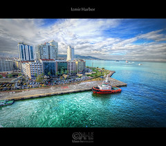Izmir Harbor (HDR) (farbspiel) Tags: ocean sea water turkey boat nikon ship wideangle handheld dri hdr izmir topaz adjust superwideangle infocus 10mm ultrawideangle tonemapped denoise d7000 nikkorafsdx1024mmf3545ged