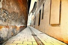 follow the lines (conviews) Tags: street buildings nikon haus 28 nikkor mauer gasse huser 1755 hauswand weitwinkel ziegel d90