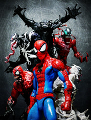 Symbiote Bloodline (Jova Cheung) Tags: toys actionfigure spiderman superhero carnage marvel venom toxin antivenom supervillain bloodline symbiote