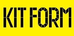 Kit Form Font / HypeForType Exclusive / Designed by Anthony Burrill (www.HypeForType.com) Tags: typography font type alphabet lettering kerning fonts leading oneletter typeface typefaces anthonyburrill kitform