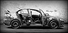 Art Of The Car (tamahaji) Tags: monochrome car japan evolution x lancer mitsubishi jdm rhd