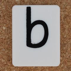 Tile Letter b (Leo Reynolds) Tags: b canon eos iso100 letter 60mm f80 oneletter bbb letterset lowercase 0125sec 40d hpexif grouponeletter xsquarex xleol30x