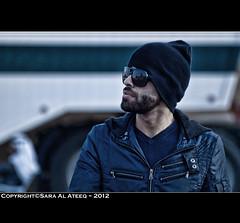 Someone .. (Sara Al-Ateeq) Tags: portrait man guy sunglasses sara someone riyadh ksa saro abdullah 500d     alateeq